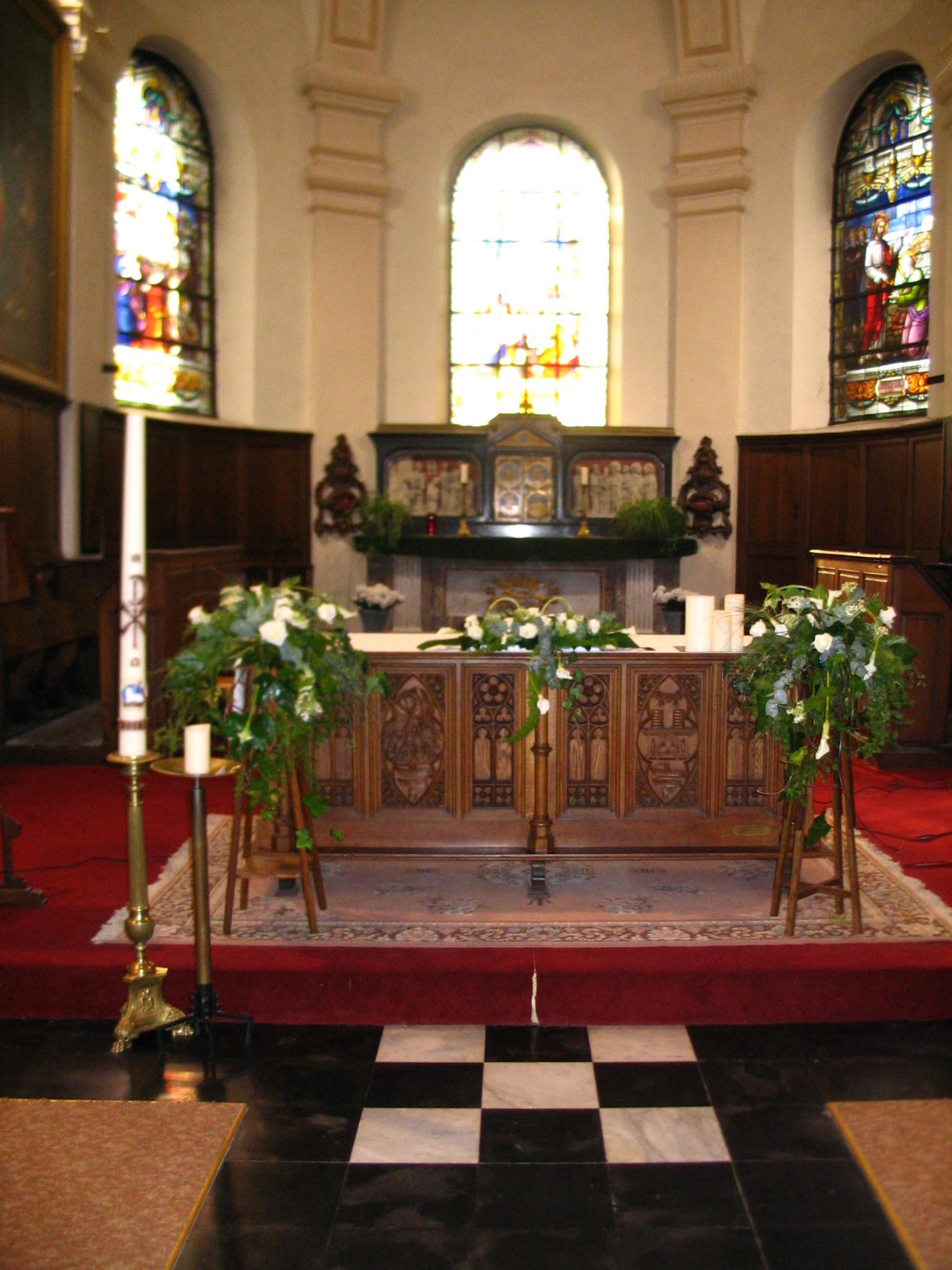 Decoration Eglise Mariage Hiver : Les décorations de mariage — fleurs velghe